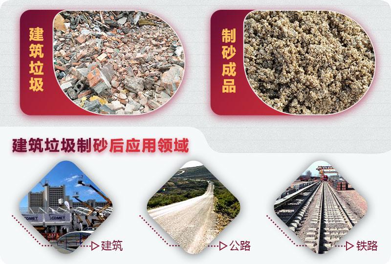 建筑制砂后应用领域