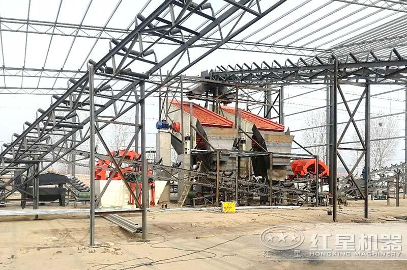 日产1500吨洗山沙设备工作现场图片