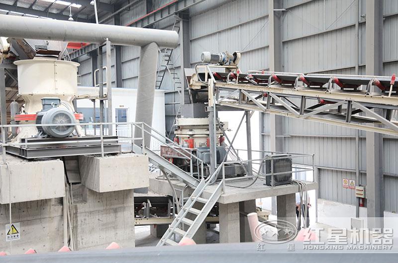江苏客户日产3000吨碎石机生产线