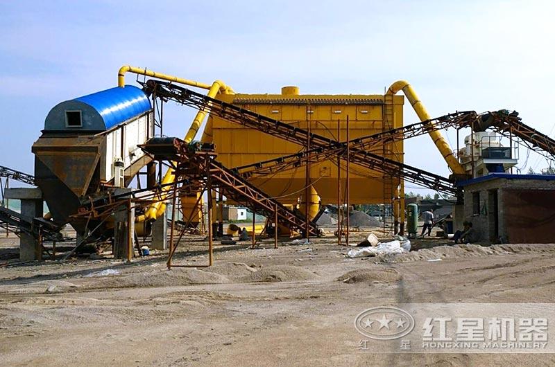 保定客户干法机制砂生产线