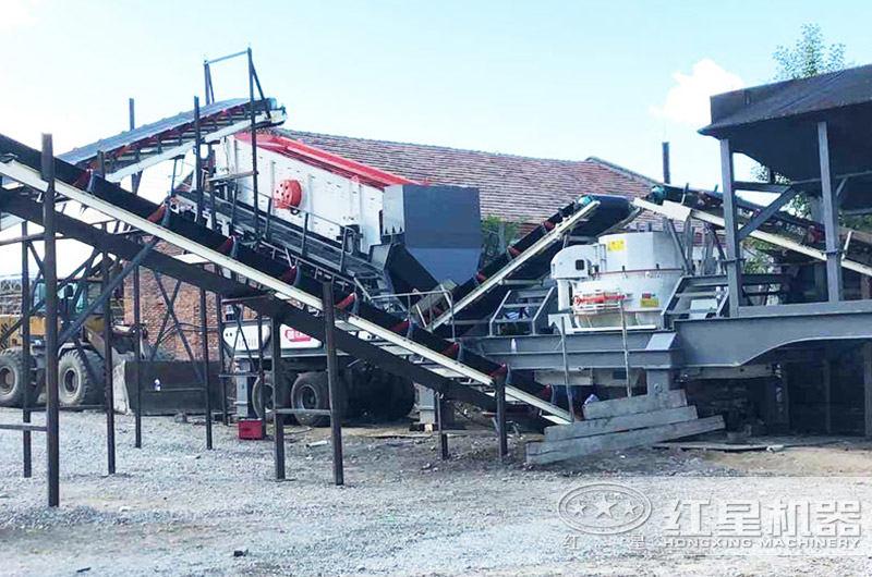 移动式环保制砂机作业现场图片