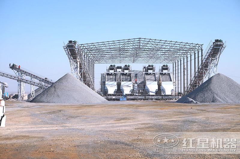 砂石厂制沙生产现场