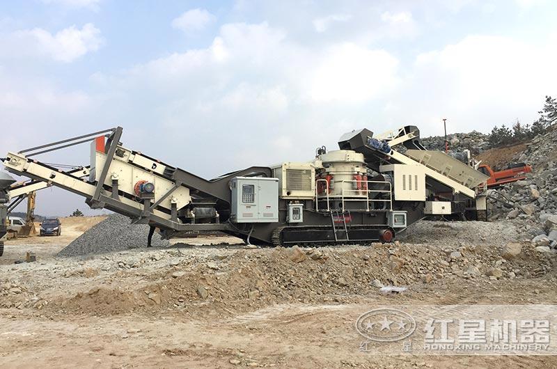 时产280吨履带移动建筑垃圾处理生产线