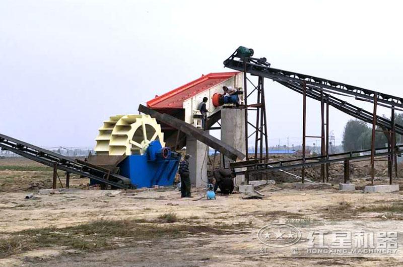 洗砂机作业现场图片