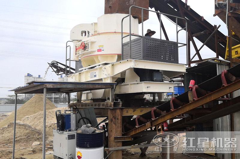 卵石制砂机生产现场图片