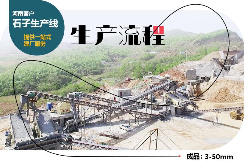 河南客户石子生产线现场图片