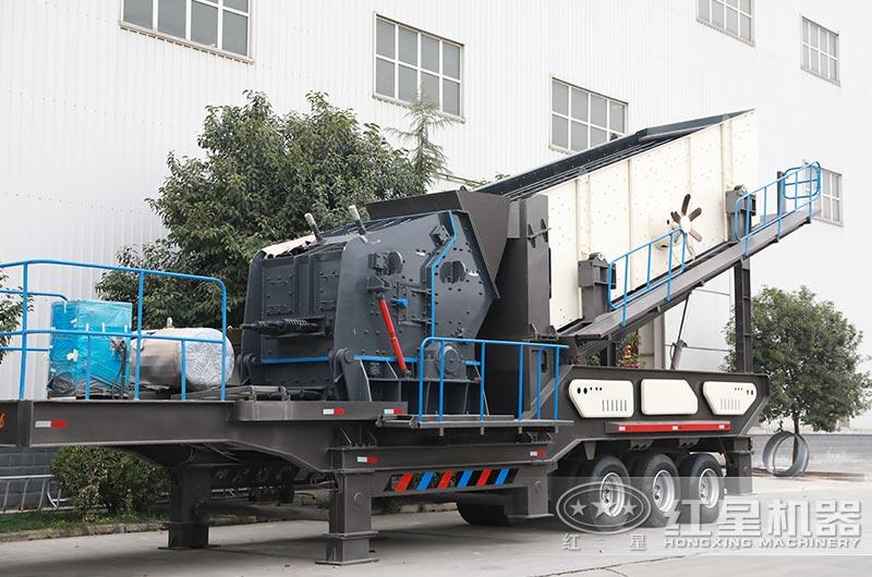 移动反击式碎石机械设备图片