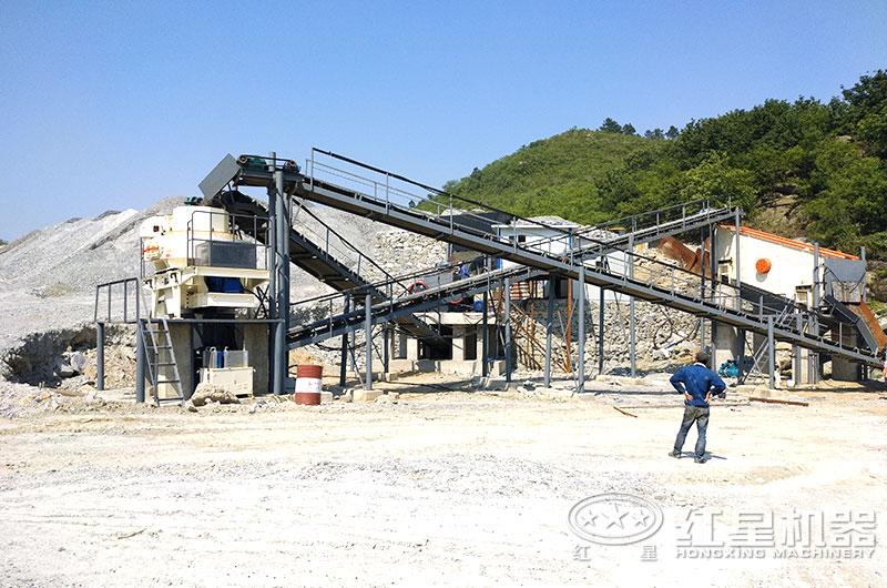 平顶山小型机制砂设备生产线现场