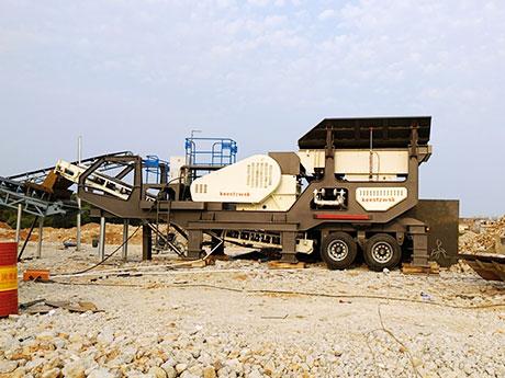 时产50-100立方可移动青石破碎生产线