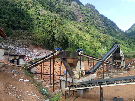 河南周口时产300-400吨石灰石破碎生产线