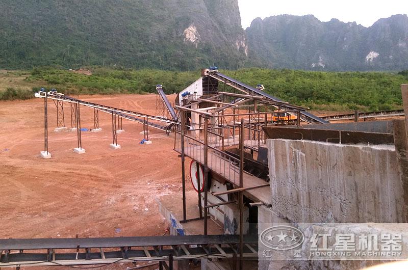 时产300-400吨石灰石破碎生产线