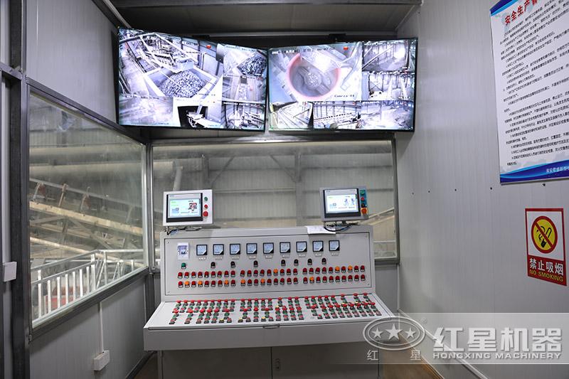 石料生产线控制室
