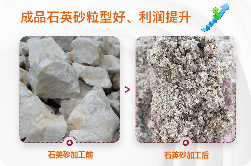 石英砂处理前后图