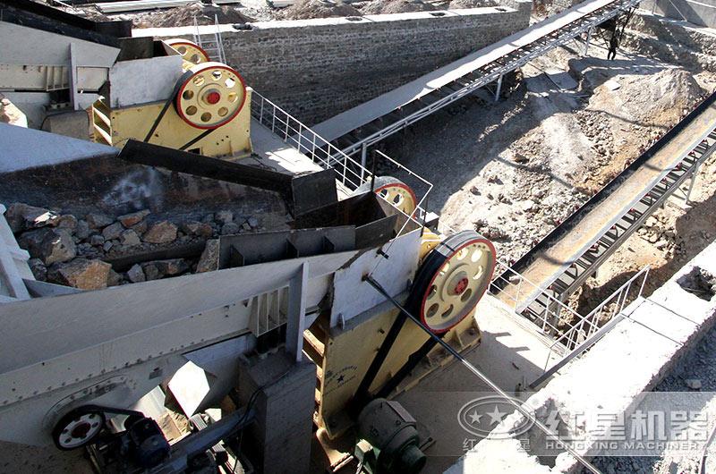 大型花岗岩加工生产现场