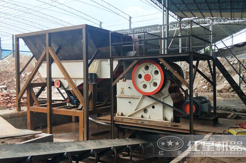 河南客户69鄂破生产现场,时产160吨