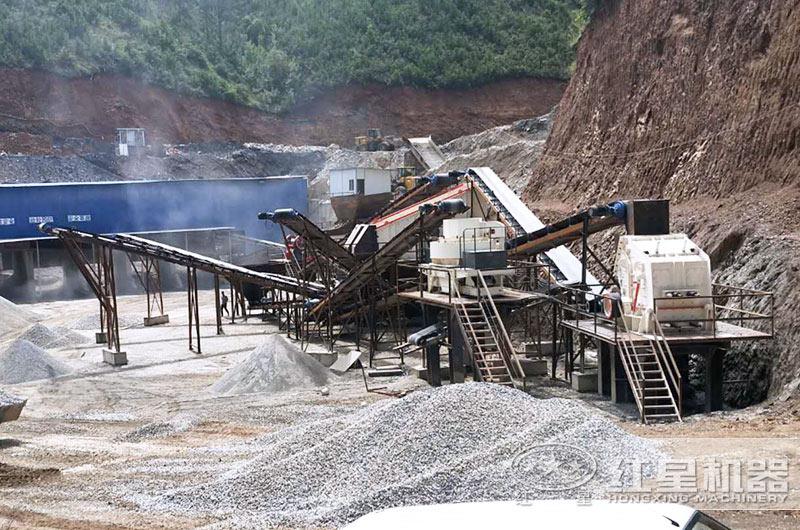 机制砂生产线实拍图片