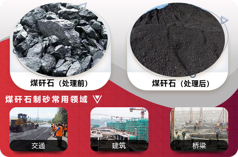 煤矸石破碎制砂前后图