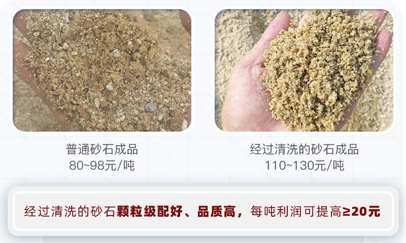 砂石清洗前后对比