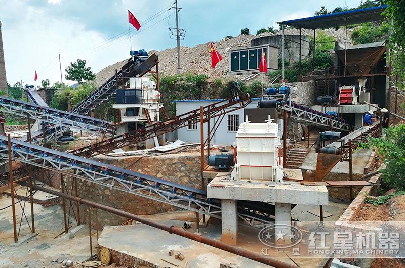 砂石生产线现场图片,处理石灰石