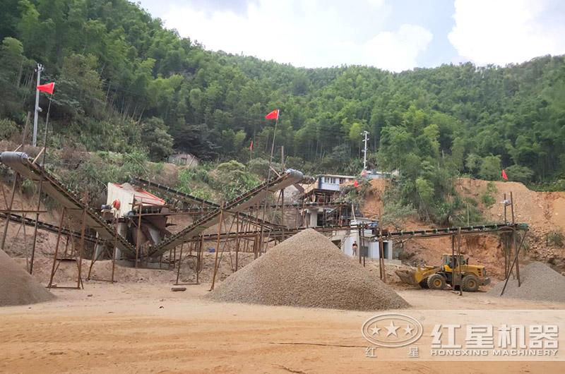 石屑与机制砂生产现场