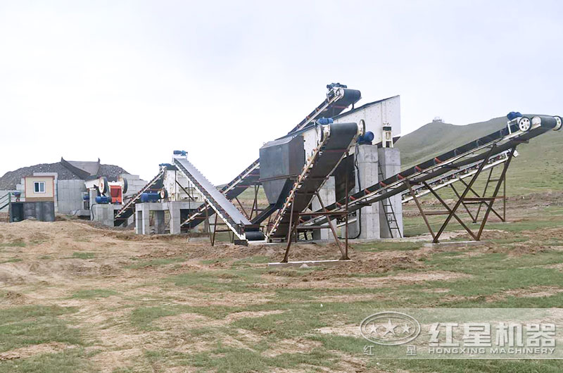 外蒙客户煤矸石制砂现场图片