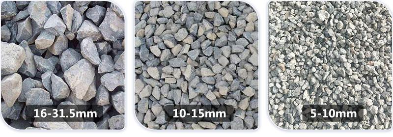 不同规格的石子