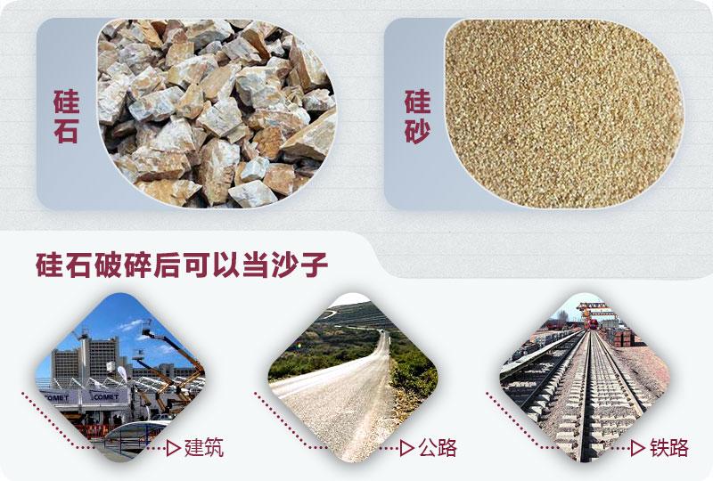 硅石破碎后可以当沙子