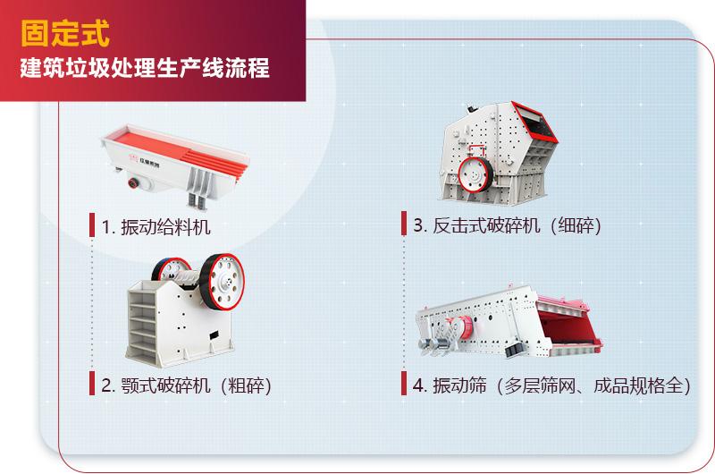 固定式建筑垃圾处理生产线流程