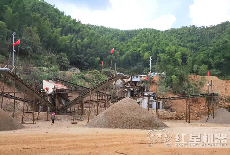 石子厂破碎现场