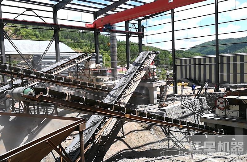 大型机制砂厂运行实拍