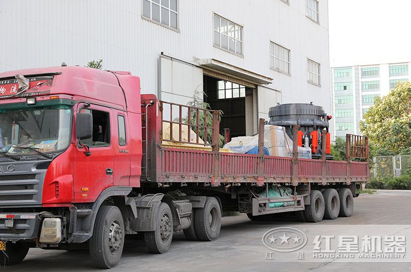 时产200吨圆锥破碎机设备发货