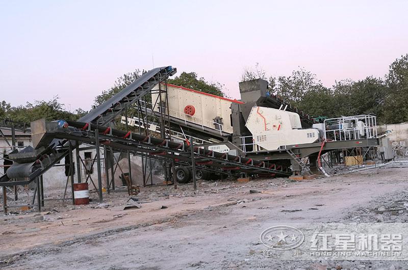 混凝土粉碎设备工作现场图片