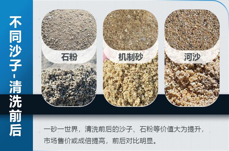 沙子清洗前后图