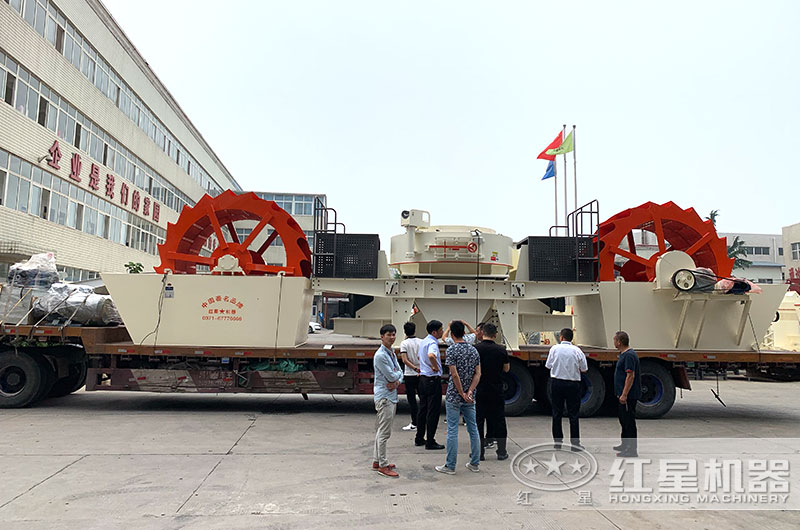 时产200吨大中型洗砂机设备发货