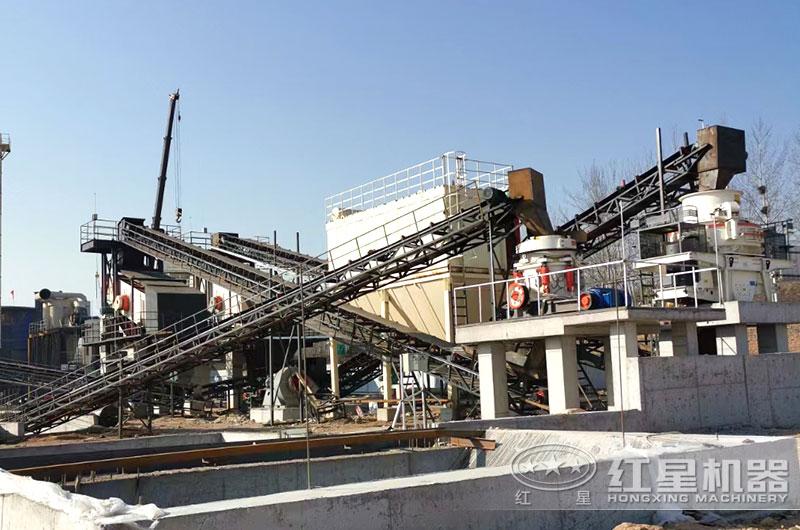 时产300吨花岗岩制砂生产线图片