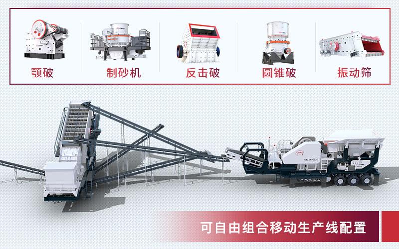 移动碎石机械设备配置