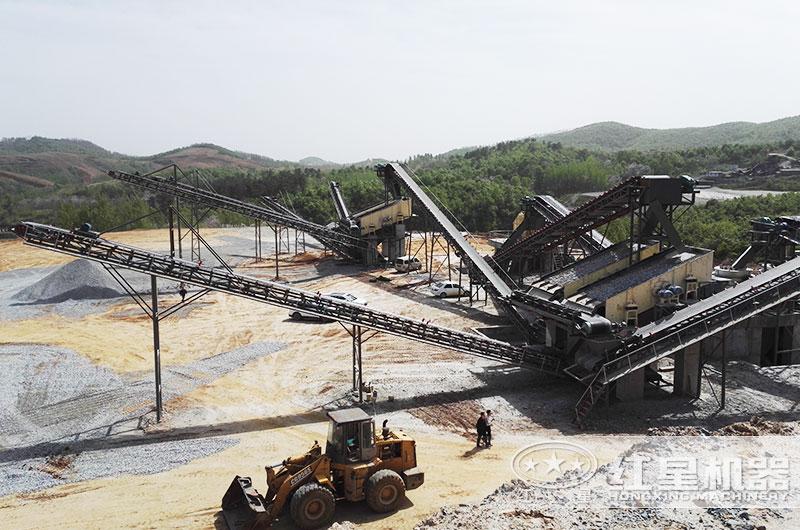 碎石机加工生产现场