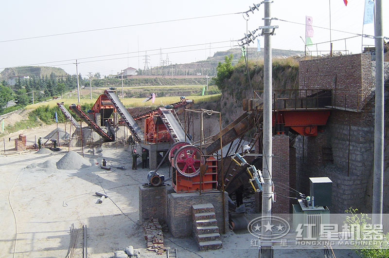 红星机器山西客户2011年砂石生产线