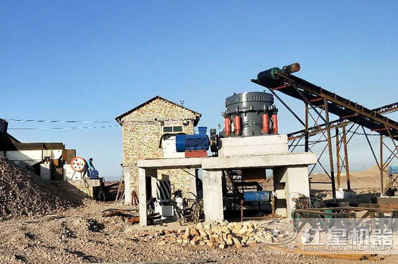 山东客户河卵石生产线现场图片