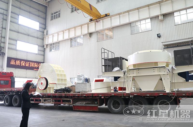 时产100吨沙子粉碎机设备发货