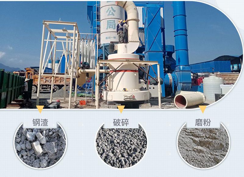 钢渣微粉生产现场