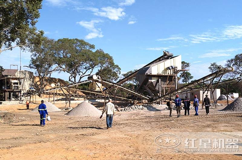 砂石料生产线现场图片