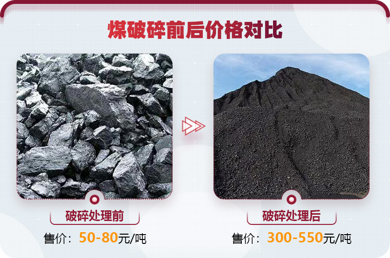 煤炭破碎前后图