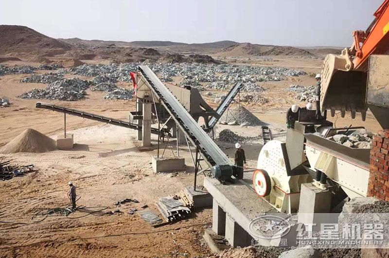 石料厂碎石生产线(锤式破碎机)