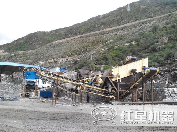 制砂生产线现场图片