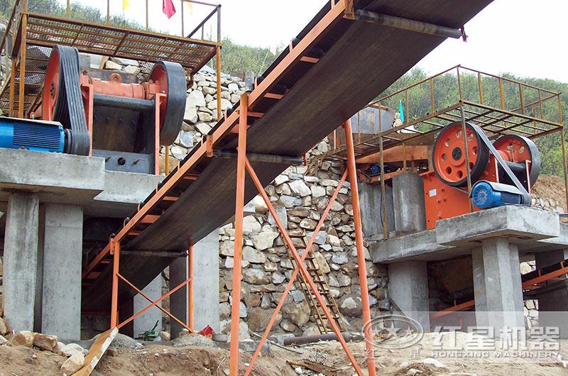 石料生产线现场图片
