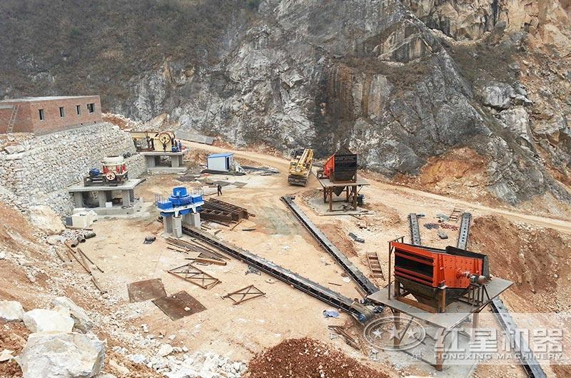 砂石生产线安装现场图片