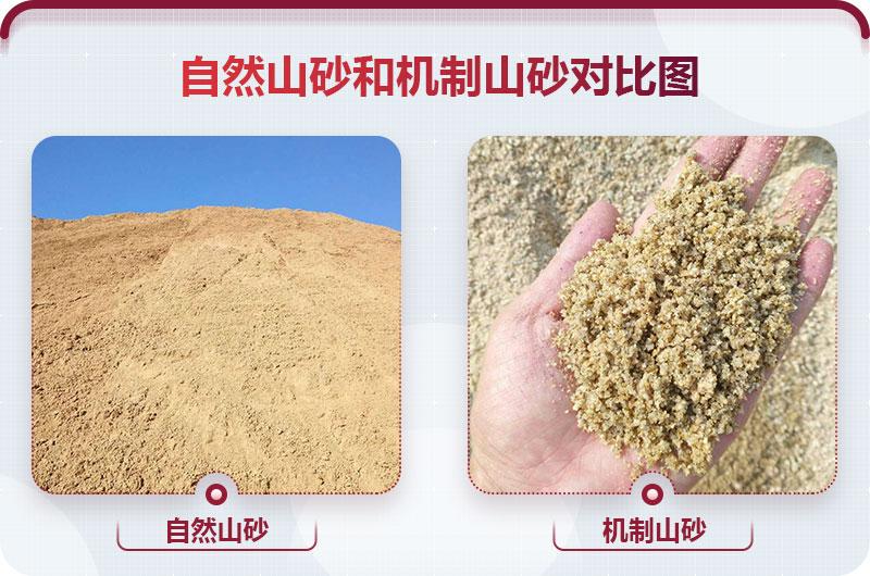 自然山砂和机制山砂对比图