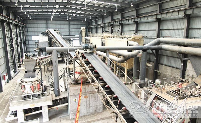 大型制砂生产线现场实拍