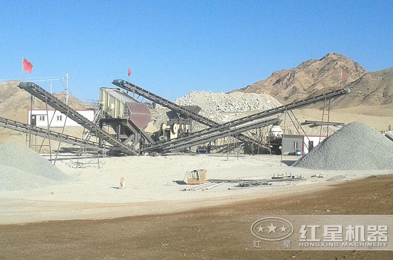 砂石生产现场图片